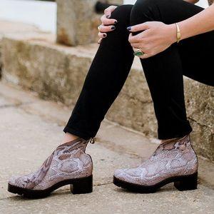 Charleston Shoe Co. Liberty Python Booties NWTBox Boutique